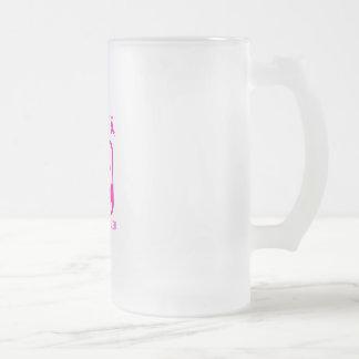Taza De Cristal Esmerilado Doblar los brazos para luchar el cáncer de pecho