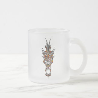 Taza De Cristal Esmerilado Dragón abstracto