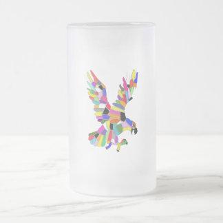Taza De Cristal Esmerilado Eagle colorido
