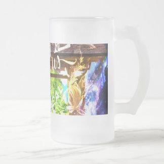 Taza De Cristal Esmerilado El camino del universo del arco iris a los que