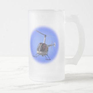 Taza De Cristal Esmerilado El interruptor del vuelo del vidrio de cerveza del
