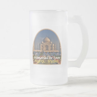 Taza De Cristal Esmerilado El TAJ MAHAL la India