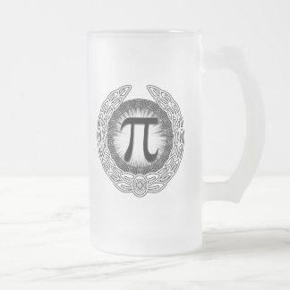 Taza De Cristal Esmerilado Emblema del pi