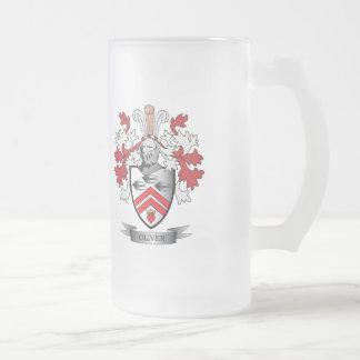 Taza De Cristal Esmerilado Escudo de armas del escudo de la familia de