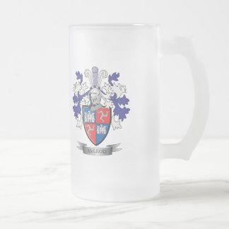 Taza De Cristal Esmerilado Escudo de armas del escudo de la familia de McLeod