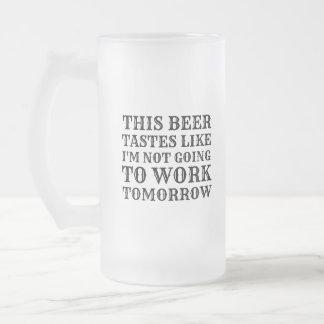 Taza De Cristal Esmerilado Esta cerveza prueba gusto