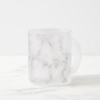 Taza De Cristal Esmerilado Estilo de mármol elegante