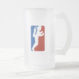 Taza De Cristal Esmerilado Estilo del logotipo de la liga