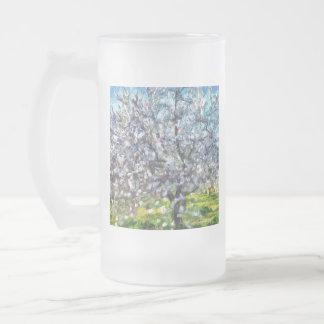 Taza De Cristal Esmerilado Flor de la almendra