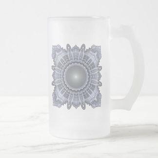 Taza De Cristal Esmerilado Geometría sagrada