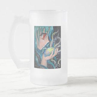 Taza De Cristal Esmerilado Hada del animado