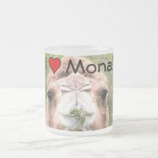 Taza De Cristal Esmerilado ¡I ♥ Mona!