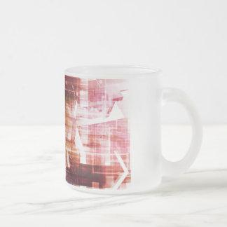 Taza De Cristal Esmerilado Imágenes de Digitaces con arte de la transferencia