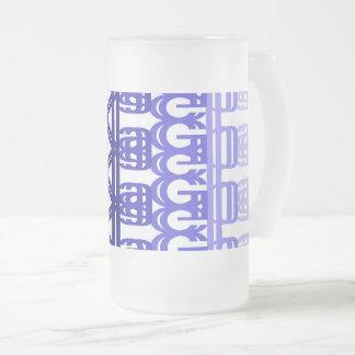 Taza De Cristal Esmerilado impresión con las letras