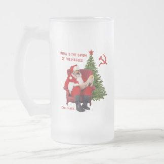 Taza De Cristal Esmerilado Karl Marx Santa
