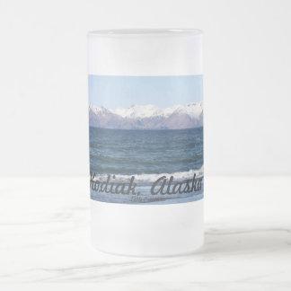 Taza De Cristal Esmerilado Kodiak, Alaska