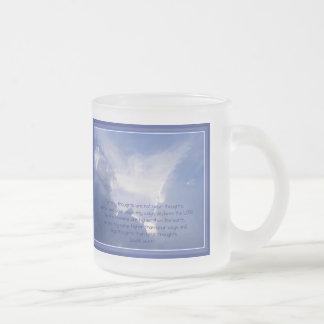Taza De Cristal Esmerilado La escritura, 55:8,9 de Isaías, mis maneras es más