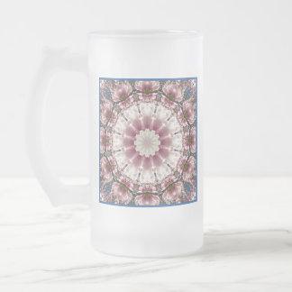Taza De Cristal Esmerilado La primavera blanca florece 2.0.3, estilo de la