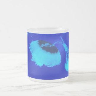 Taza De Cristal Esmerilado Medusas en México (azul)