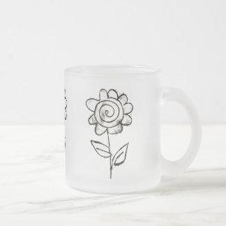 Taza De Cristal Esmerilado Mono flor de la impresión