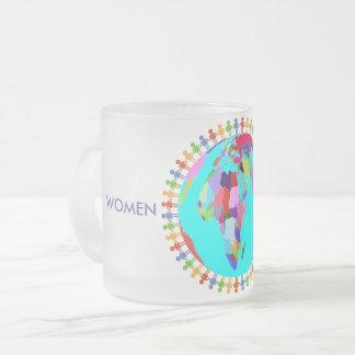 Taza De Cristal Esmerilado Mujeres unidas