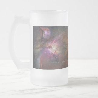 Taza De Cristal Esmerilado Nebulosa de Orión