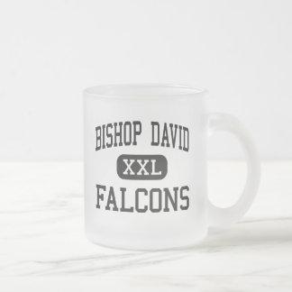 Taza De Cristal Esmerilado Obispo David - Falcons - alto - Louisville