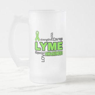Taza De Cristal Esmerilado Palabras… Lyme