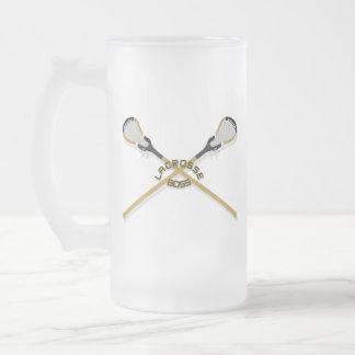 Taza De Cristal Esmerilado Palillos cruzados Boss de LaCrosse
