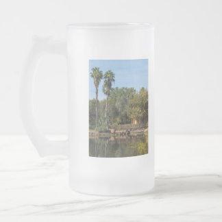 Taza De Cristal Esmerilado Paraíso tropical de las primaveras