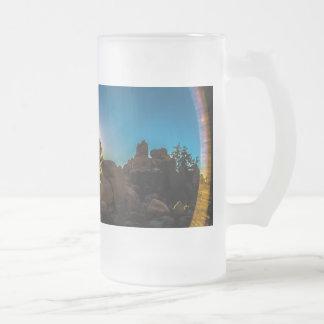 Taza De Cristal Esmerilado Parque de Joshua TreeNational de la salida del sol