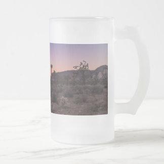 Taza De Cristal Esmerilado Parque nacional de la yuca de la puesta del sol