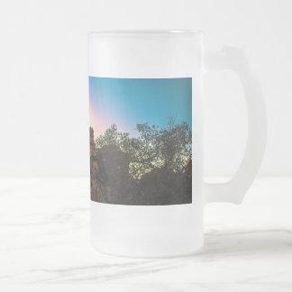 Taza De Cristal Esmerilado Parque nacional de la yuca de la salida del sol