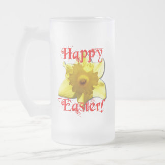 Taza De Cristal Esmerilado Pascua feliz, narcisos 02.T