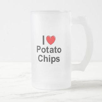 Taza De Cristal Esmerilado Patatas fritas