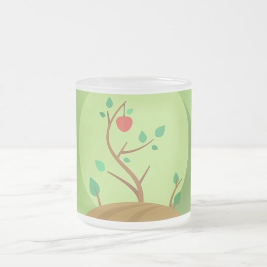 Taza De Cristal Esmerilado Plantando lo que usted cosechará diseño plano