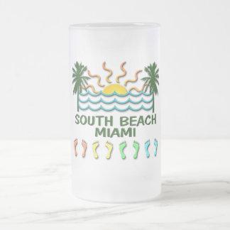 Taza De Cristal Esmerilado Playa del sur Miami