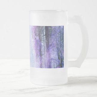 Taza De Cristal Esmerilado Portal mágico en el bosque