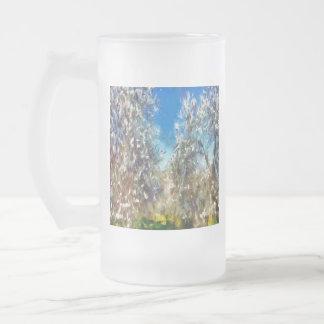 Taza De Cristal Esmerilado Primavera Blosssom
