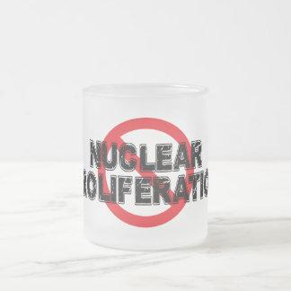 Taza De Cristal Esmerilado Proliferación nuclear de la prohibición