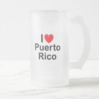 Taza De Cristal Esmerilado Puerto Rico
