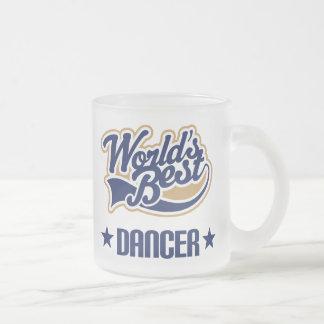 Taza De Cristal Esmerilado Regalo del bailarín (mundos mejores)