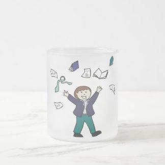 Taza De Cristal Esmerilado Retiro de la graduación