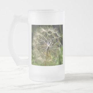 Taza De Cristal Esmerilado Salsifí de la flor del Tragopogon