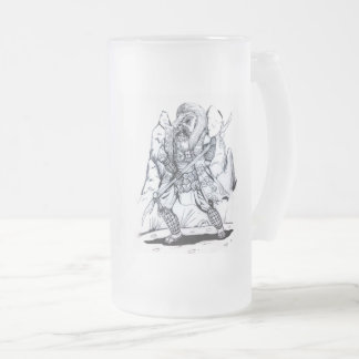 Taza De Cristal Esmerilado Samurai elemental del aire