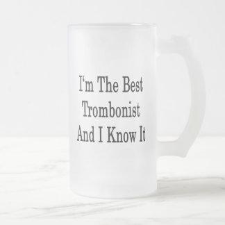 Taza De Cristal Esmerilado Soy el mejor trombón y lo sé