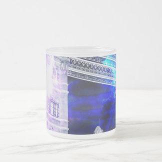 Taza De Cristal Esmerilado Sueños de Amorem Amisi Londres del anuncio