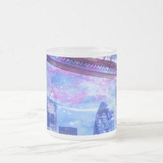 Taza De Cristal Esmerilado Sueños de Londres del amante