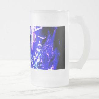 Taza De Cristal Esmerilado Sueños parisienses del zafiro Amethyst unos que