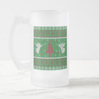 Taza De Cristal Esmerilado Suéter feo del navidad